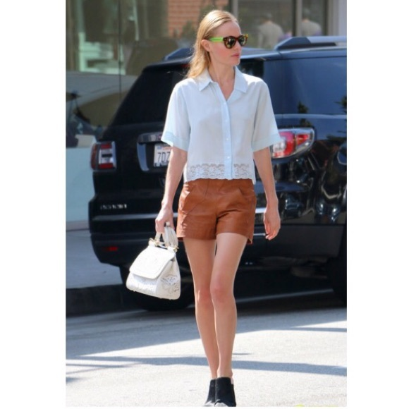 Dallin Chase Pants - ✨DALLIN CHASE✨Brown Leather Shorts